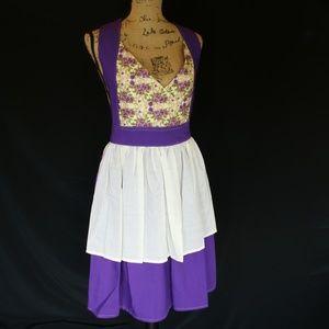 Artisan Apron Art Smock Purple Floral